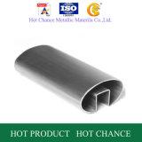SUS304, 316 tubos de acero inoxidable barandilla de vidrio