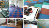 Eignung-Gymnastik-Gummifußboden-Fliesen, die Gymnasium-Bodenbelag blockieren
