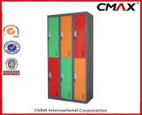 De 6-deuren van de Kast van het staal Kleurrijke Kast cmax-SL06-001 van de Kleren van de Opslag van het Metaal van het Kabinet van de Gymnastiek van de School