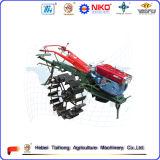 Tracteur à pied à deux roues à chaud avec remorque, charrue, cultivateur