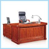 L mesa de escritório executivo de madeira moderna da mobília da forma com tabela lateral