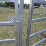 Premier panneau élevé de bétail galvanisé par HDG de la valeur 10FT longtemps 6FT