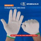 Перчатки хлопка абажура безопасности датчиков K-87 10 связанные 45g/Pair работая