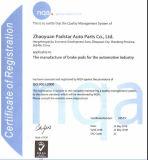 Garniture de frein à disque de camion de certificat de Wva29087 ECE-R90