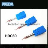 Outils de Preda HRC60 2mm pour la machine de commande numérique par ordinateur en métal
