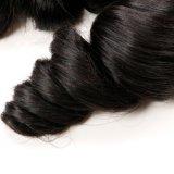 Trama allentata brasiliana umana 100% dei capelli umani di Remy del Virgin dell'onda dei capelli allentati della pelle