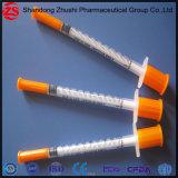 일회용품 주황색 모자 인슐린 주사통 U-40