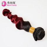 Weefsels van het Menselijke Haar van de Weefsels van het Haar van Ombre #1b/Bug Bourgondië van de Orde van de steekproef de Aanvaardbare Chinese Maagdelijke Ruwe
