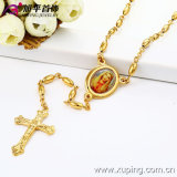 Form 14k Gold Color Virgin marianisches Necklace mit Cross Jewelry (42395)