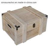 1개의 병에 넣어진 소나무 나무 상자, 적포도주를 위한 나무로 되는 포도주 상자