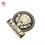 Promoción de OEM de metal de color de esmalte Sheriff Trump insignia de solapa