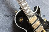 Custom 3 Pickups Lp guitarra eléctrica em preto (BPL-530)