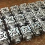 Paso total extremo roscado 1000wog válvula de bola con almohadilla de montaje 3PC