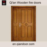Entrée principale en bois d'incendie de Double-Lame de placage de teck