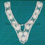 Kraag van het Kant van het Borduurwerk van de Toebehoren van de Kleding van het Huwelijk van de katoenen Halslijn van de Stof de Textiel