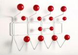 Eamesのこつそれすべての壁の鉄の木製の球のホック