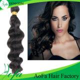 7A индийский славный уток волос девственницы человека волнистых волос 100%