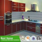 灰色のメラミンPVC食器棚の暖かくデザイン