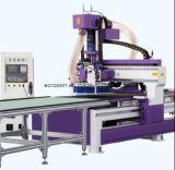 Portes en bois d'élément de l'Italie Hsd de modification automatique ennuyeuse d'outil produisant la machine