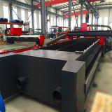 Machine de découpage de laser de fibre de feuille plate en métal de commande numérique par ordinateur