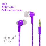 Form-Entwurf passen InOhr preiswerten Kopfhörer für MP3 an