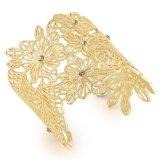Populäres grosses Rosen-Goldform-Schmucksache-Zubehör-Stulpe-Legierungs-Armband