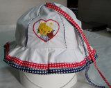 Denim bonito bordado la tapa de la pesca de la moda de los niños