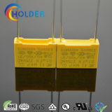 금속을 입힌 폴리프로필렌 안전 축전기 (104k/275VAC RoHS 범위) X2 노란 축전기