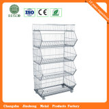 GroßhandelsSteel Industry Wire Mesh Container mit Wheels