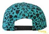 Sombrero lleno del casquillo del Snapback de la impresión con insignia del bordado 3D