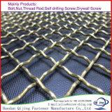 Ячеистая сеть плетения ячеистой сети ячеистой сети квадратного отверстия гальванизированная сплетенная алюминиевая