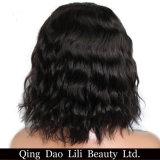 """아기 머리 성격 색깔 브라질 Non-Remy 머리 10-30를 가진 흑인 여성을%s 짧은 바브 사람의 모발 레이스 정면 가발 """""""
