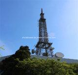 ISO9001 3 다리 강철 관 통신 탑