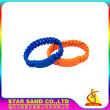 Fasce popolari all'ingrosso della treccia, braccialetto del silicone di modo per la decorazione del partito