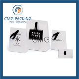 Do presente luxuoso feito sob encomenda do punho da corda da impressão do portador da compra saco de papel (DM-GPBB-040)