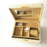 Rectángulo de almacenaje de cuero de la joyería de la PU de Elegent con seis ranuras