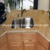 Het Gouden Graniet van Kashmir voor Countertop van de Keuken, Worktop, de Bovenkant van de Lijst (yqa-GC1011)
