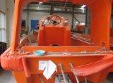 La gravedad del brazo Tipo Luffing GRP abierto del bote salvavidas