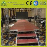 屋外および屋内コンサートのポータブルの調節可能なアルミニウム合板の段階