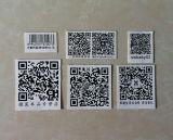 Kundenspezifische schwarze Scan-Barcode-Aufkleber (ST-023)