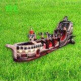 2 en 1 personalizado estilo pirata Jumping barco con tobogán y bouncerpara niños