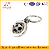 Promotion Keychain en alliage de zinc avec balle pivotante