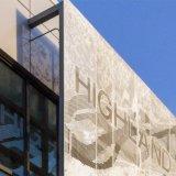 Mur rideau en métal perforé décoratifs feuille pour les panneaux muraux