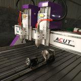 Cer-doppelte Hauptholzbearbeitung CNC-Gravierfräsmaschine mit Drehachse
