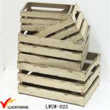 Casse di legno afflitte rustiche poco costose del Apple all'ingrosso
