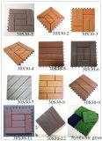 Telha de madeira da textura composta da plataforma de WPC ao ar livre