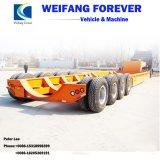 半永久にWeifangの新しく頑丈で低いベッドのトラックのトレーラー
