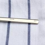 Jeu réglé de couverts de traitement de résines de type d'acier inoxydable d'or de couteau de cuillère occidentale de fourche