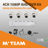 4CH Dome 6mm lens 2MP 1080P Kit caméra CCTV