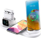 Estação de Carregamento sem fios 7 em 1, vários dispositivos compatíveis com Base para carregamento rápido para iPhone Airpods PRO Apple assistir 11 PRO/Max/XS/Xr Samsung